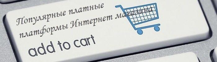 Популярные платные платформы Интернет магазина