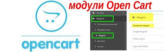 Модули Open Cart, размещение модуля на макете Open Cart