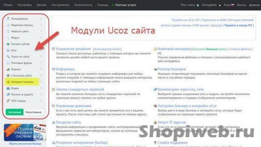 Создание сайта UCOZ: пошаговая инструкция создания готового Интернет магазина