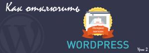 Как отключить WordPress на время настройки и наполнения, Урок 2: Интернет магазин WordPress