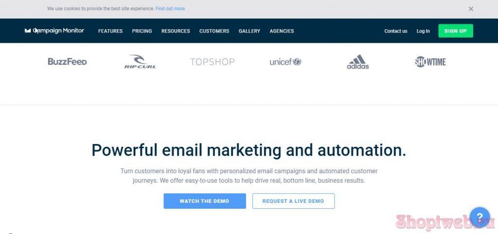 Campaign Monitor почтовые сервисы для рассылок