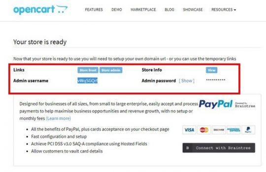 OpenCart Cloud проект создан