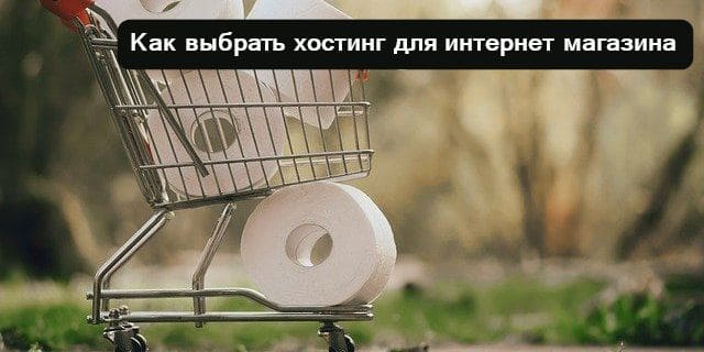 Хостинг для интернет магазина